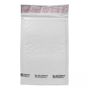 "Sealed Air Jiffy TuffGard  Cushioned Mailer - #0, 6"" Width x 10"" Length - White-  25 / Carton"