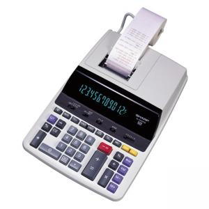 Sharp 12 Digit Commercial Printing Calculator - 12 Character - Fluorescent