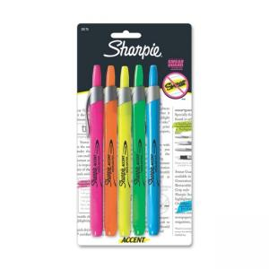 Sharpie Accent Highlighter - Chisel Point - 5 / Set - Assorted Colors