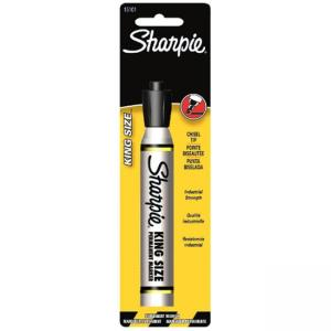 Sharpie King Size Permanent Marker - Chisel Marker Point Style - Black Ink - 1 Each