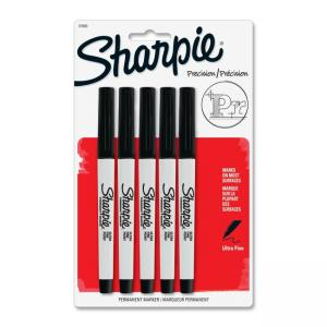 Sharpie Permanent Marker - Black Ink - 5 / Pack