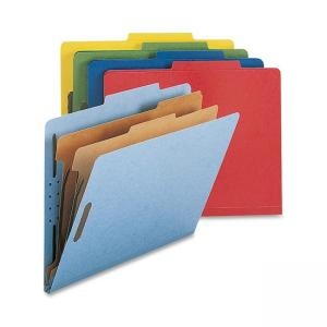 Smead Straight-Line Colored Classification Folder - Assorted Colors - 1 Box