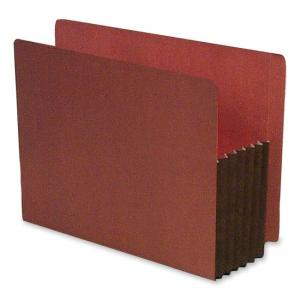 SJ Paper Expanding Red Rope File Pocket - Red - 10 / Box