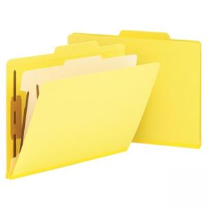 Smead Top Tab Colored Classification Folder - 10 / Box - Yellow