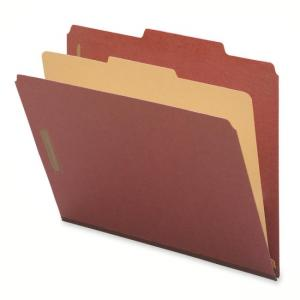 Smead Recycled Classification File Folder - Red - 10/Box