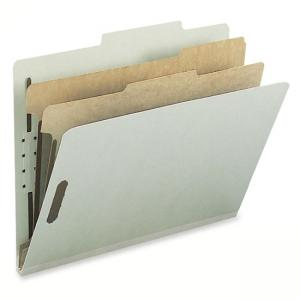 Smead Recycled Classification File Folder  Gray, Green - 10/Box