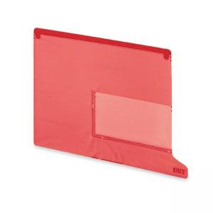 Smead 2 Pocket Style Vinyl Tab Out Guide - Red - 25 / Box