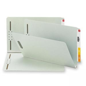 Smead End Tab Pressboard Fastener Folder 25 / Box - Gray