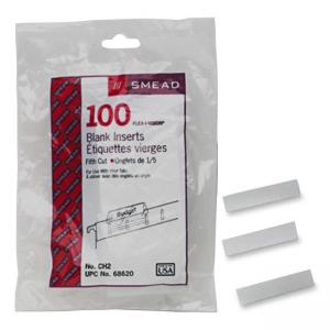 Smead White Replacement Insert Tabs