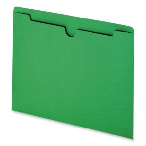 Smead Colored File Jacket - 100 / Box - Green