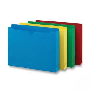 Smead Colored File Jacket - 50 / Box - Assorted Colors