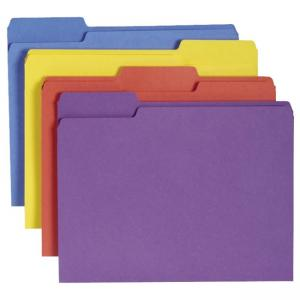 Smead Antimicrobial Colored Folder