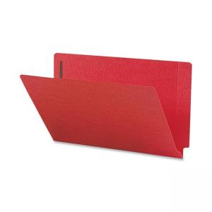 Smead Colored Folder with Fastener - 50 / Box - Red