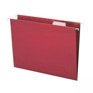 Smead Colored Hanging File Folder 25 / Box - Maroon
