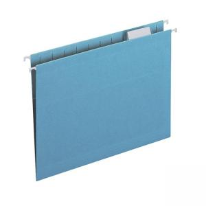 Smead Colored Hanging Folder - 25 / Box - Blue