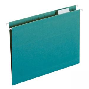 Smead Colored Hanging Folder - 25 / Box - Teal