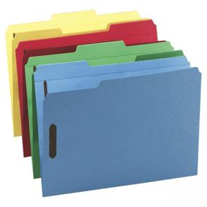 Smead Colored Top Tab Folder - Assorted Colors - 50 / Pack