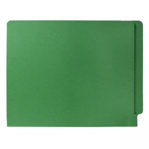 Smead Colored Two-Ply End Tab Folder - 100 / Box - Green