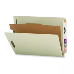 Smead End Tab Classification Folder with Dividers - 10/Box - Gray