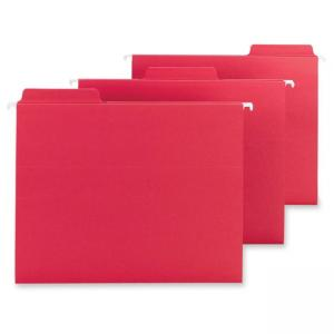Smead FasTab Hanging Folder - 20 / Box - Red