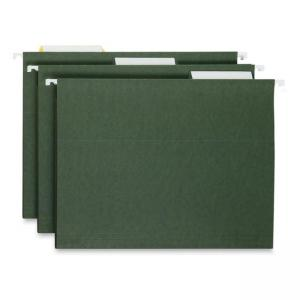 Smead Hanging Folder with Tabs - 25 / Box - Green