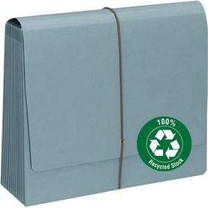 Smead Recycled Colored Expanding File - 12 Pockets - 1 Each - Blue Moon