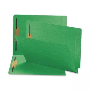 Smead Shelf-Master Colored Folder with Fastener - 50 / Box - Green