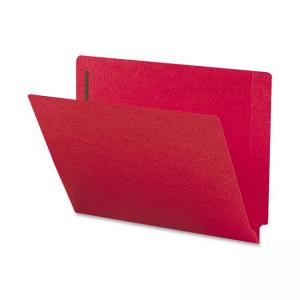 Smead Shelf-Master Colored Folder with Fastener - 50 / Box - Red