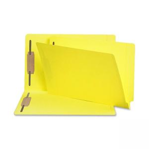 Smead Shelf-Master Colored Folder with Fastener - 50 / Box Yellow