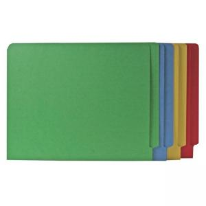 Smead Shelf-Master Colored Two-Ply End Tab Folder - 100 / Box - Assorted Colors