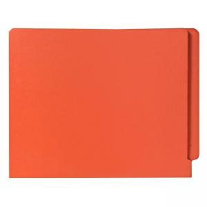 Smead Shelf-Master Colored Two-Ply End Tab Folder - 100 / Box -  Orange