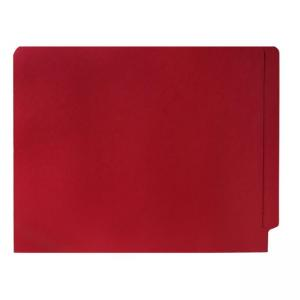 Smead Shelf-Master Colored Two-Ply End Tab Folder - 100 / Box - Red