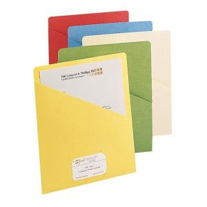 Smead Slash Pocket File Jacket - 25 / Pack - Assorted