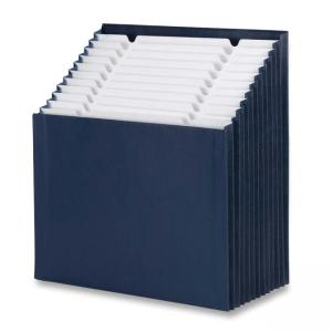 Smead File Pocket - Navy Blue - 6 / Carton