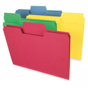 Smead SuperTab Oversized Top Tab File Folder - Assorted