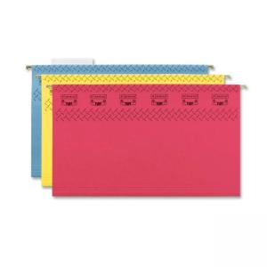 Smead TUFF Hanging Folder with Easy Slide Tab - 15 / Box - Assorted Colors