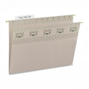 Smead TUFF Hanging Folder with Easy Slide Tab - 18 / Box - Steel Gray