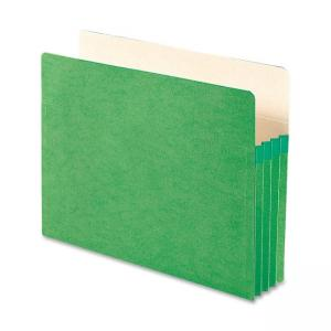Smead TUFF Pocket Colored Top Tab File Pocket - Green - 1 Each