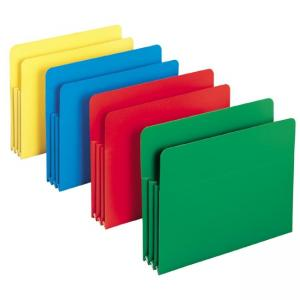 Smead TUFF Pocket Poly Expanding File Pocket - Assorted Colors - 1 / Box