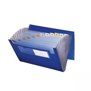 Smead Ultracolor Expanding Transport File - 12  Pocket - Blue - 1 Each