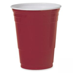 Solo Plastic Party Cup Red - 50 Pack