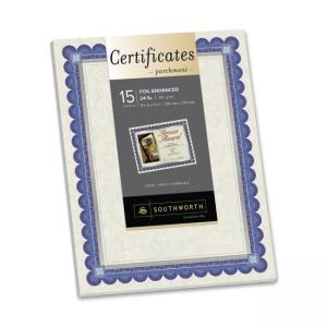 Southworth Foil Enhanced Parchment Certificates - 15 / Pack - Ivory