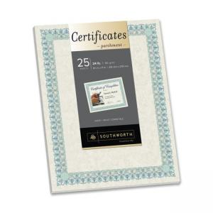 Southworth CT3R Parchment Certificates -25 / Pack - Ivory