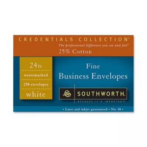 Southworth J404-10 Fine Business Envelope - Recycled - White