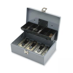 Sparco 5-Compartment Tray Cash Box - Gray