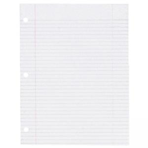 Sparco Notebook Filler Paper - 200 / Pack - White