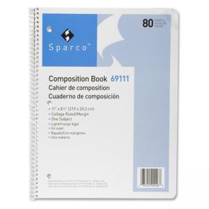 "Sparco Spiral Composition Books - Letter 8.50"" x 11"""