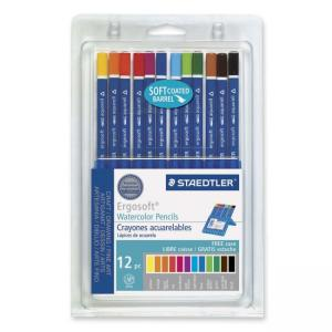 Staedtler Ergosoft Watercolor Pencil Set - Assorted Colors - 12 / Set