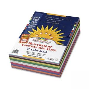 SunWorks Construction Paper - 300 / Pack - Assorted Colors
