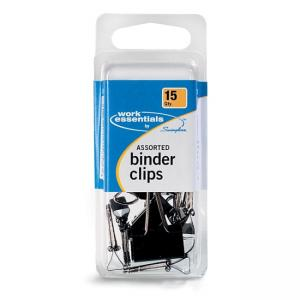 Swingline Binder Clips - Black - Assorted Sizes 15 / Pack